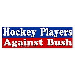 Hockey Players Against Bush (auto sticker)
