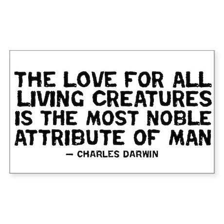Quote Darwin - The Love Sticker