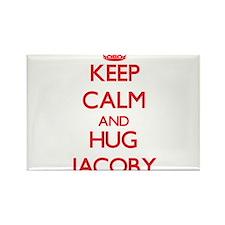 Keep Calm and HUG Jacoby Magnets