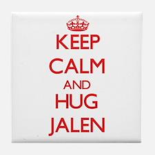 Keep Calm and HUG Jalen Tile Coaster