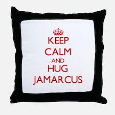 Keep Calm and HUG Jamarcus Throw Pillow