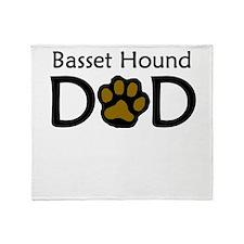Basset Hound Dad Throw Blanket