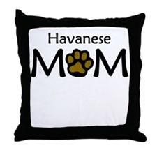 Havanese Mom Throw Pillow