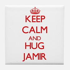 Keep Calm and HUG Jamir Tile Coaster