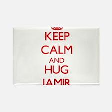 Keep Calm and HUG Jamir Magnets