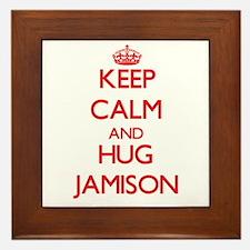 Keep Calm and HUG Jamison Framed Tile