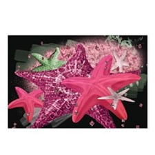 Pink Starfish Postcards (Package of 8)