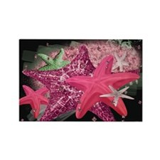 Pink Starfish Rectangle Magnet