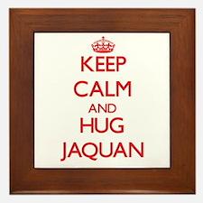 Keep Calm and HUG Jaquan Framed Tile