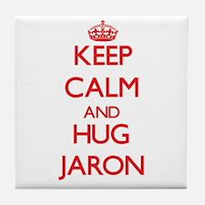 Keep Calm and HUG Jaron Tile Coaster