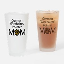 German Wirehaired Pointer Mom Drinking Glass