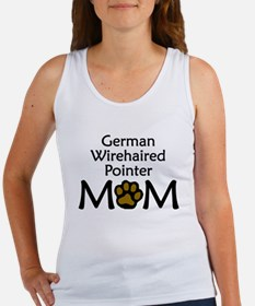 German Wirehaired Pointer Mom Tank Top