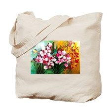 ORCHIDS IN PINK AND YELLOW Tote Bag