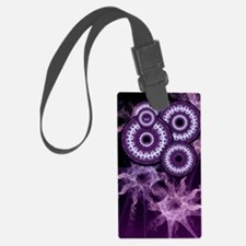 Purple Haze Swirls Luggage Tag