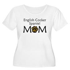 English Cocker Spaniel Mom Plus Size T-Shirt