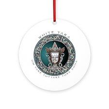 White Tara Ornament (Round)
