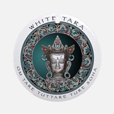 White Tara Ornament (Round)