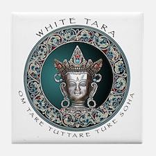 White Tara Tile Coaster