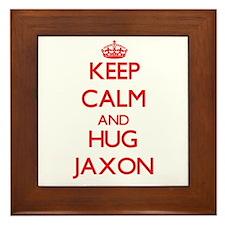 Keep Calm and HUG Jaxon Framed Tile