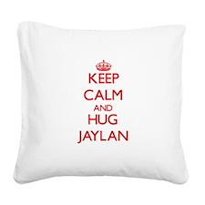 Keep Calm and HUG Jaylan Square Canvas Pillow