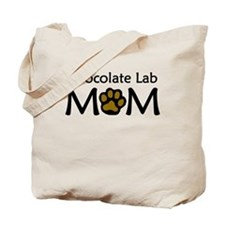 Chocolate Lab Mom Tote Bag