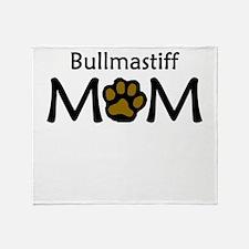 Bullmastiff Mom Throw Blanket