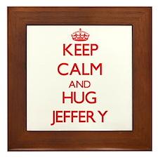 Keep Calm and HUG Jeffery Framed Tile