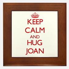 Keep Calm and HUG Joan Framed Tile