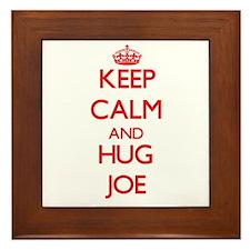 Keep Calm and HUG Joe Framed Tile