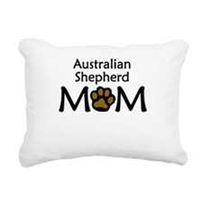 Australian Shepherd Mom Rectangular Canvas Pillow