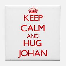 Keep Calm and HUG Johan Tile Coaster