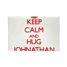 Keep Calm and HUG Johnathan Magnets