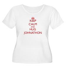 Keep Calm and HUG Johnathon Plus Size T-Shirt