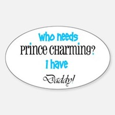 Daddy's my Prince (blue) Oval Decal