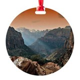 National parks Round Ornament