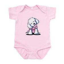 Maltese Girl In Pink Infant Bodysuit