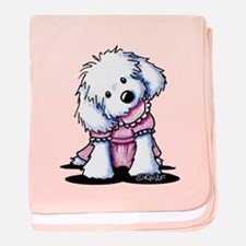 Maltese Girl In Pink baby blanket