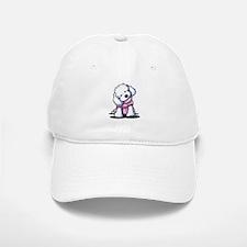Maltese Girl In Pink Baseball Baseball Cap