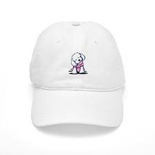 Maltese Girl In Pink Baseball Cap