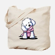 Maltese Girl In Pink Tote Bag