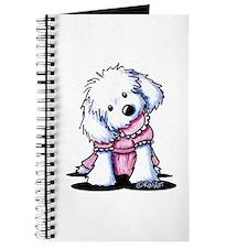 Maltese Girl In Pink Journal