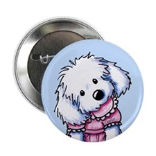 """Maltese Girl In Pink 2.25"""" Button"""