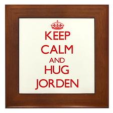 Keep Calm and HUG Jorden Framed Tile