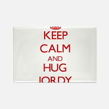 Keep Calm and HUG Jordy Magnets