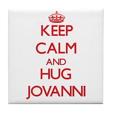 Keep Calm and HUG Jovanni Tile Coaster