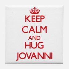 Keep Calm and HUG Jovanni Tile Coaster