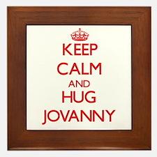 Keep Calm and HUG Jovanny Framed Tile