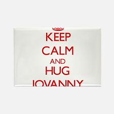 Keep Calm and HUG Jovanny Magnets