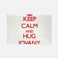 Keep Calm and HUG Jovany Magnets