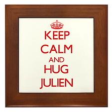 Keep Calm and HUG Julien Framed Tile